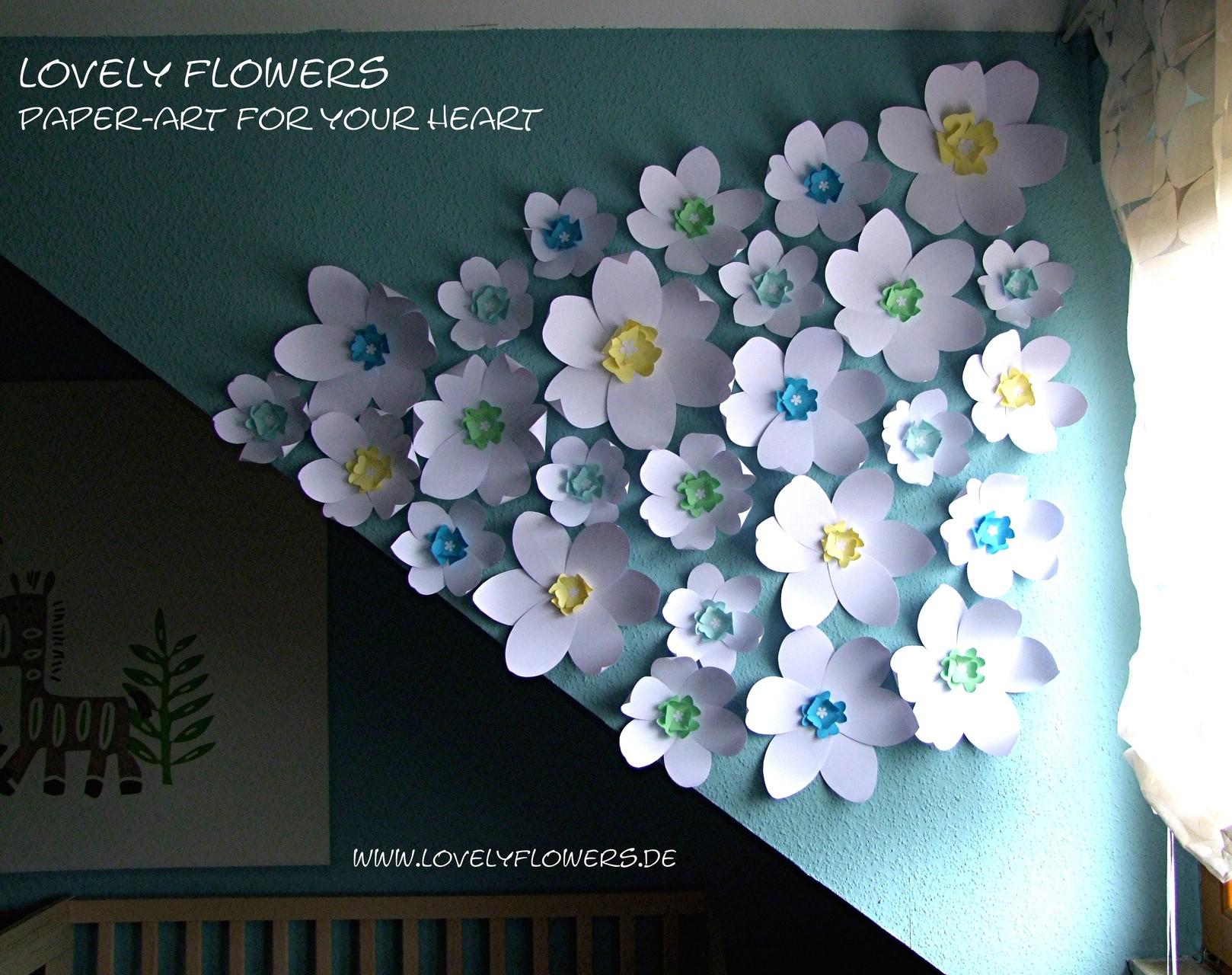 www.lovelyflowers.de - Dein Spezialist für PAPER-ART Blumenwandtattoos in 3D!