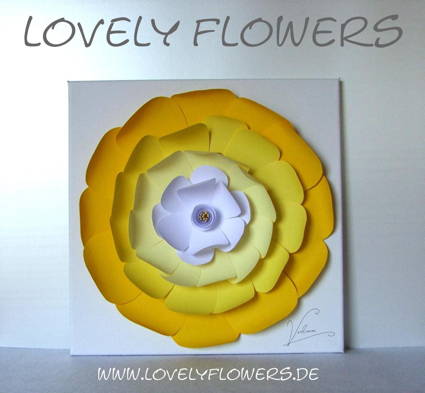 www.lovelyflowers.de - Dein Spezialist für dekorative PAPER-ART Blumenbilder in vielen Formaten!