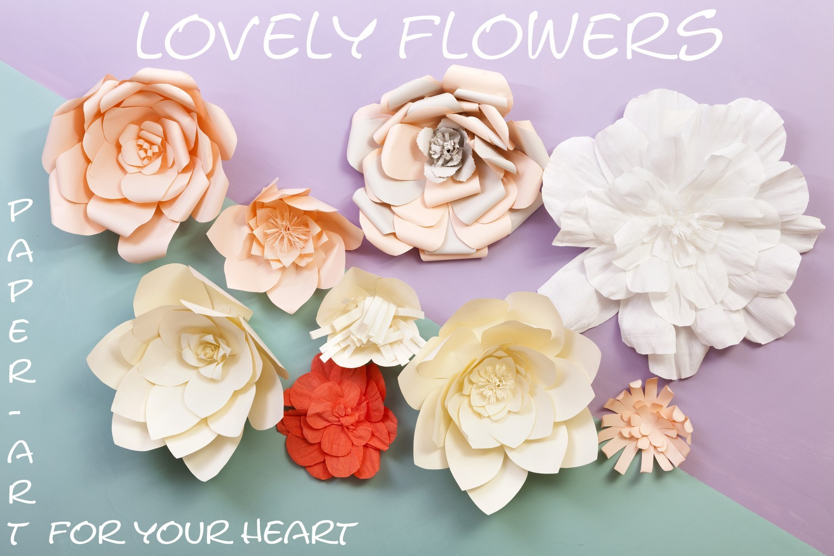www.lovelyflowers.de - Dein Spezialist für PAPER-ART-Blumendekorationen aller Art!