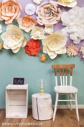 www.lovelyflowers.de - Dein Spezialist für PAPER-ART-Blumen-Raumdekorationen!