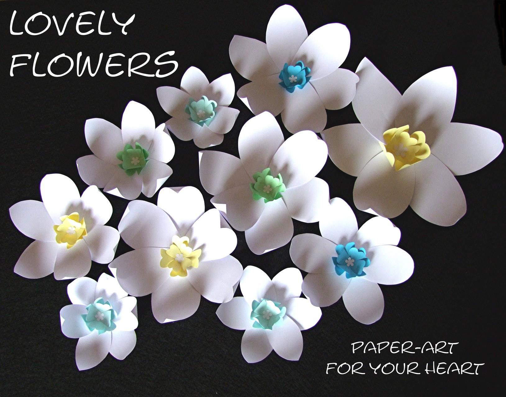 www.lovelyflowers.de - Dein Spezialist für PAPER-ART DIY-Blüten-Wandtattoos in 3D!