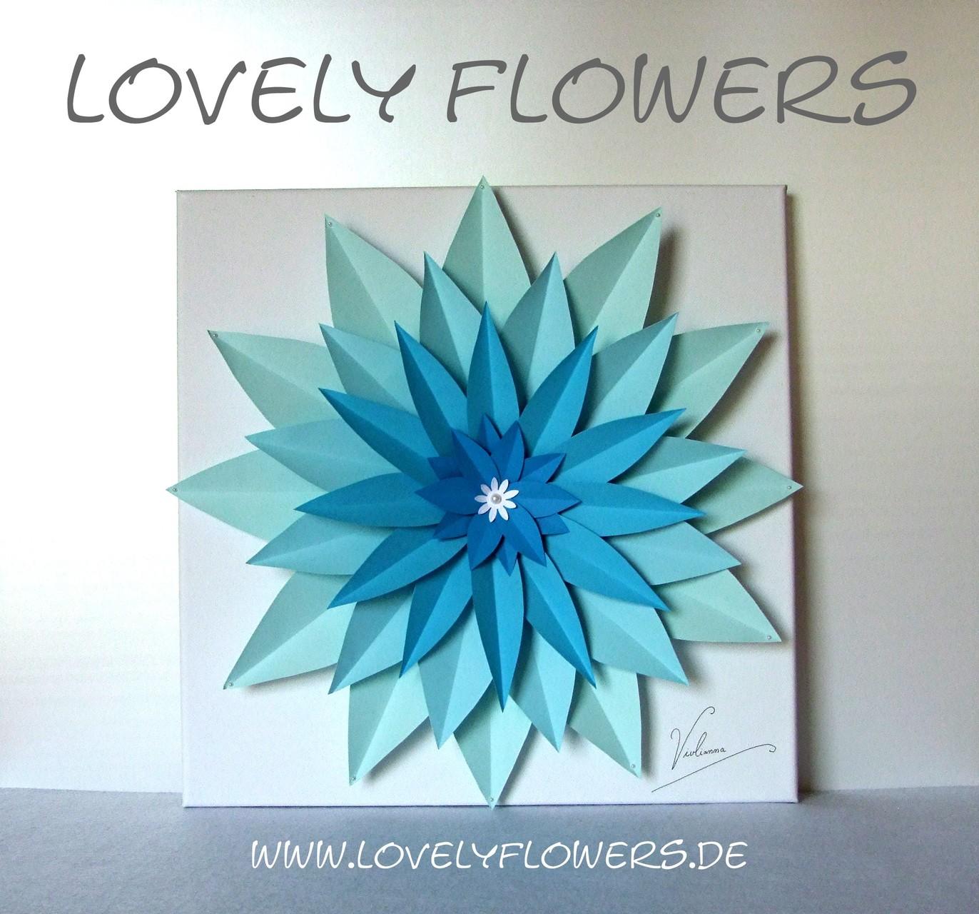 www.lovelyflowers.de - Dein Spezialist für dekorative PAPER-ART Blumenbilder in vielen Varianten!