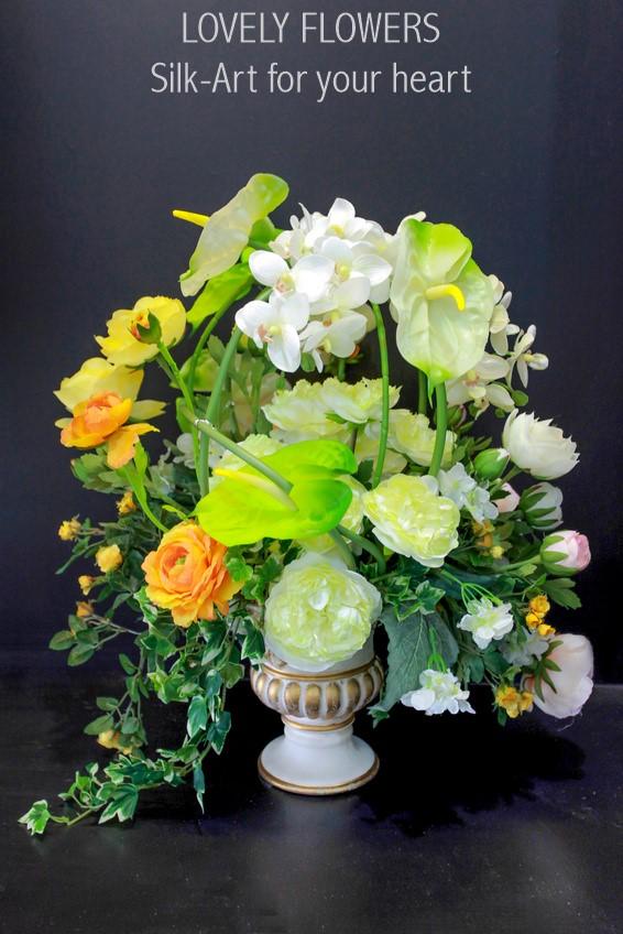 www.lovelyflowers.de - Dein Spezialist für Hotelerie & Gastronomie Seidenblumendekorationen