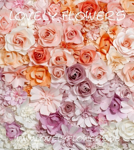 www.lovelyflowers.de - Dein Spezialist für PAPER-ART-Blumen-Hintergrunddekorationen!