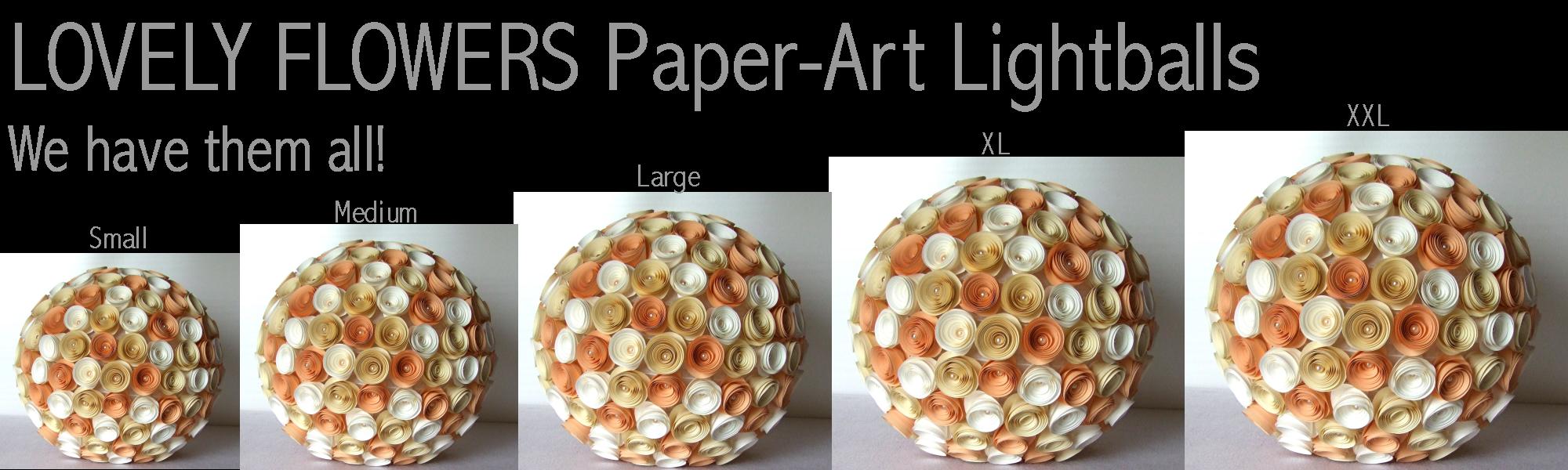 www.lovelyflowers.de - Paper Art Lampen gibt es von S - XL!