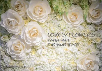 www.lovelyflowers.de - Dein Spezialist für PAPER-ART-Blumen Hochzeitsdekorationen!