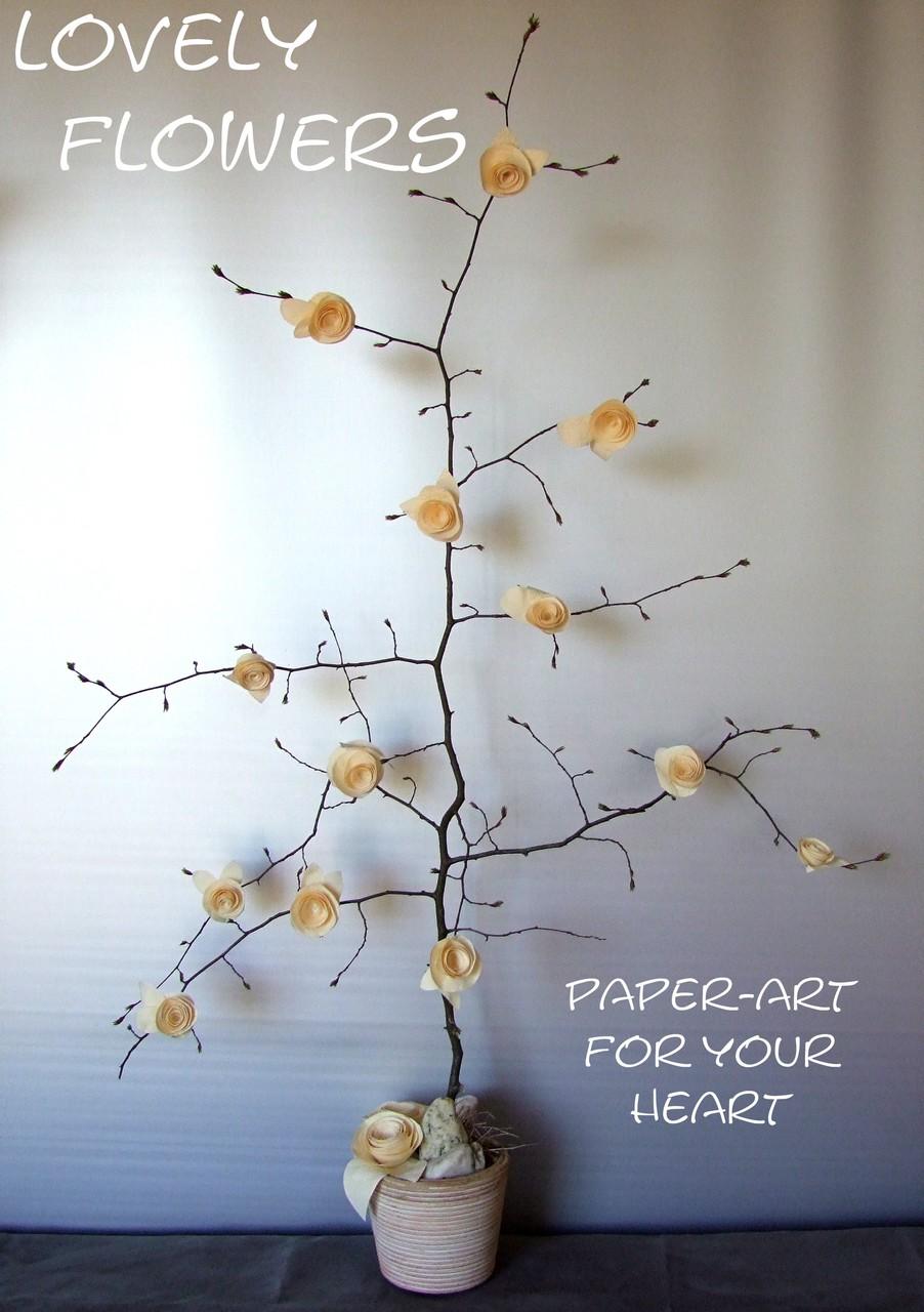 www.lovelyflowers.de - Dein Spezialist für PAPER-ART Edle Raumdekoration!