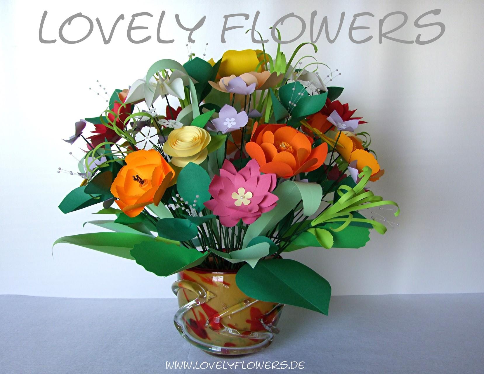 www.lovelyflowers.de - Dein Spezialist für PAPER-ART Großbouquets repräsentativer Art!
