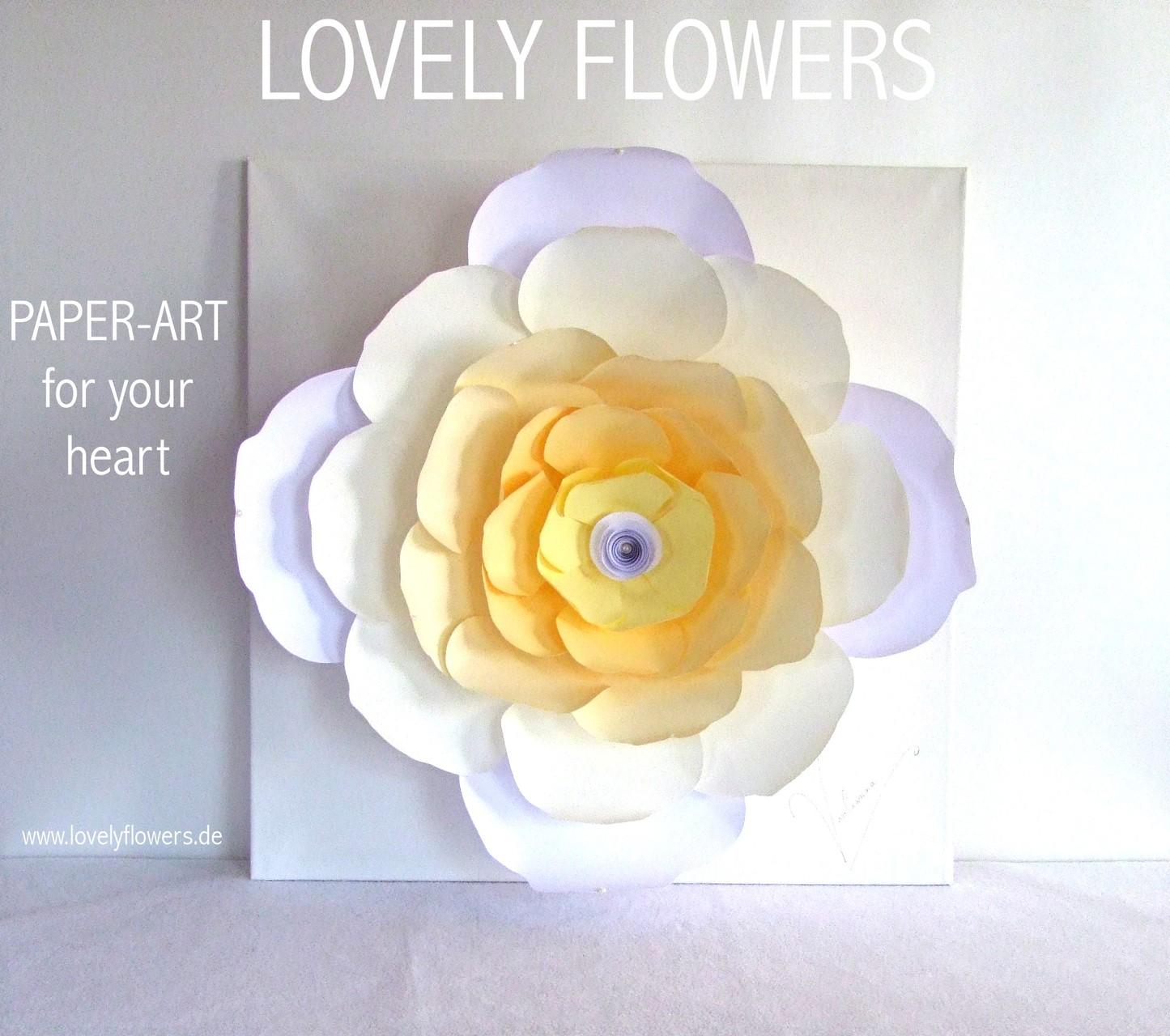 www.lovelyflowers.de - Dein Spezialist für große PAPER-ART Glücksblumenbilder!