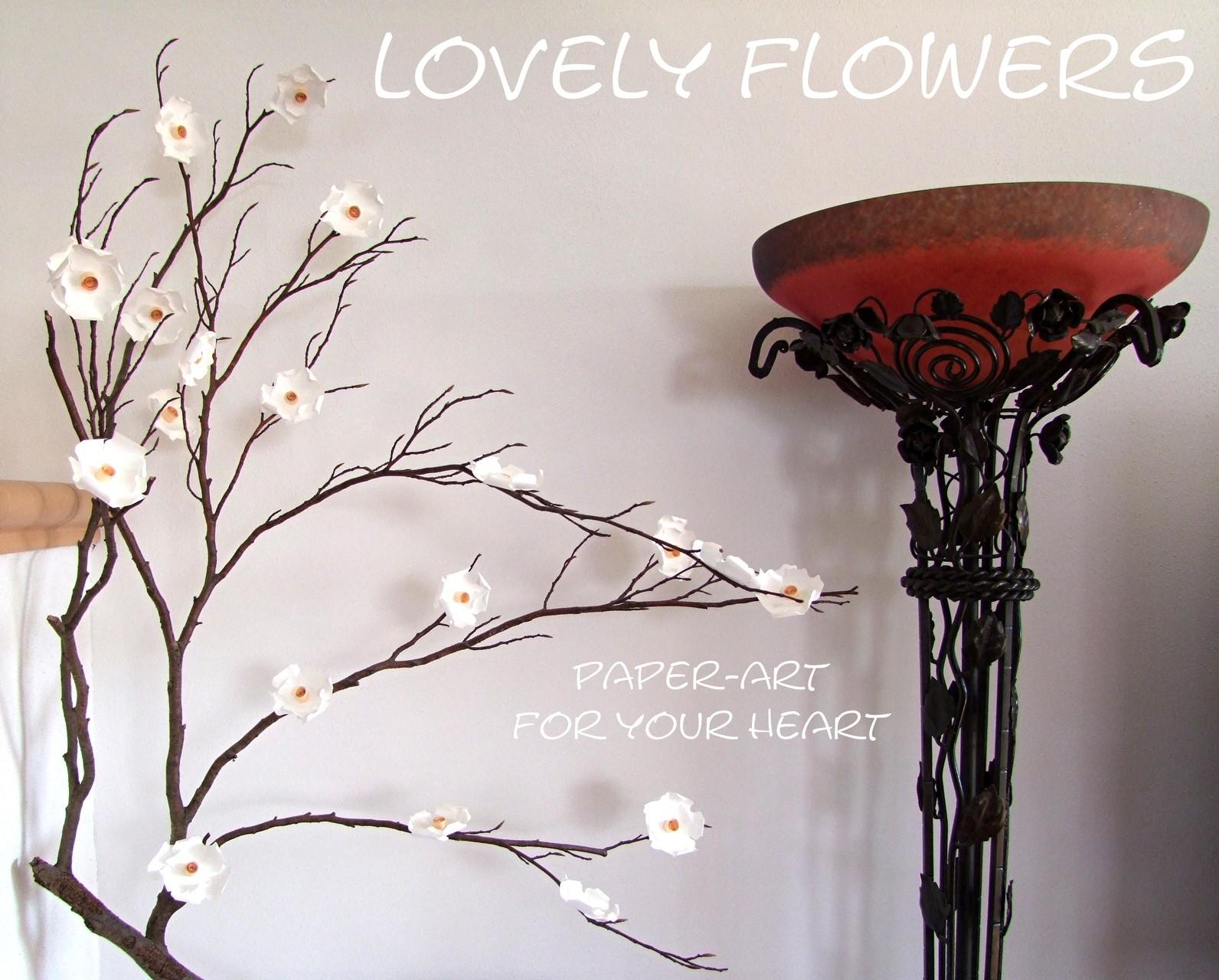 www.lovelyflowers.de - Dein Spezialist für PAPER-ART Zweigdekorationen!
