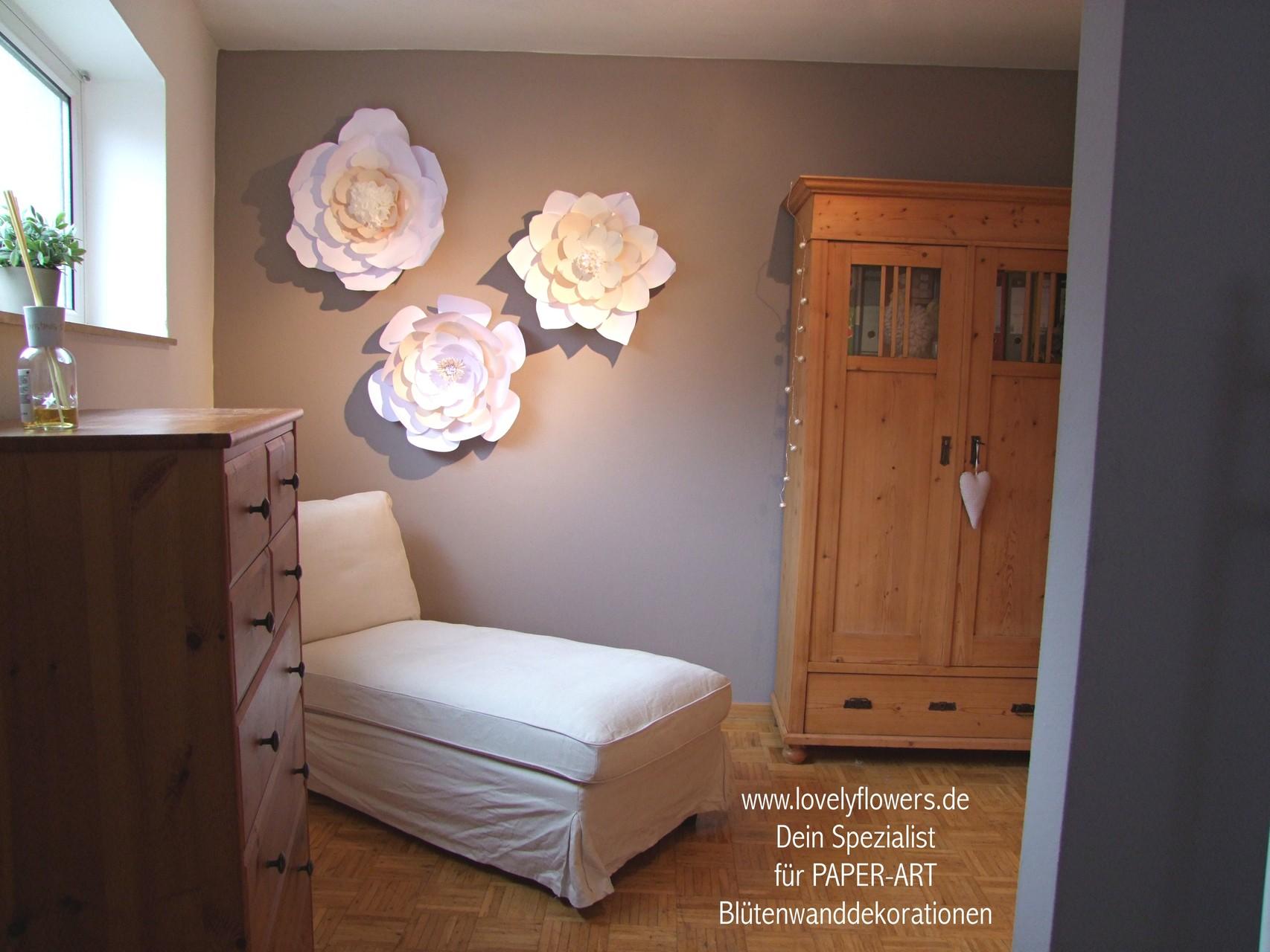 www.lovelyflowers.de - Dein Spezialist für PAPER-ART Blütenwandtatoos!