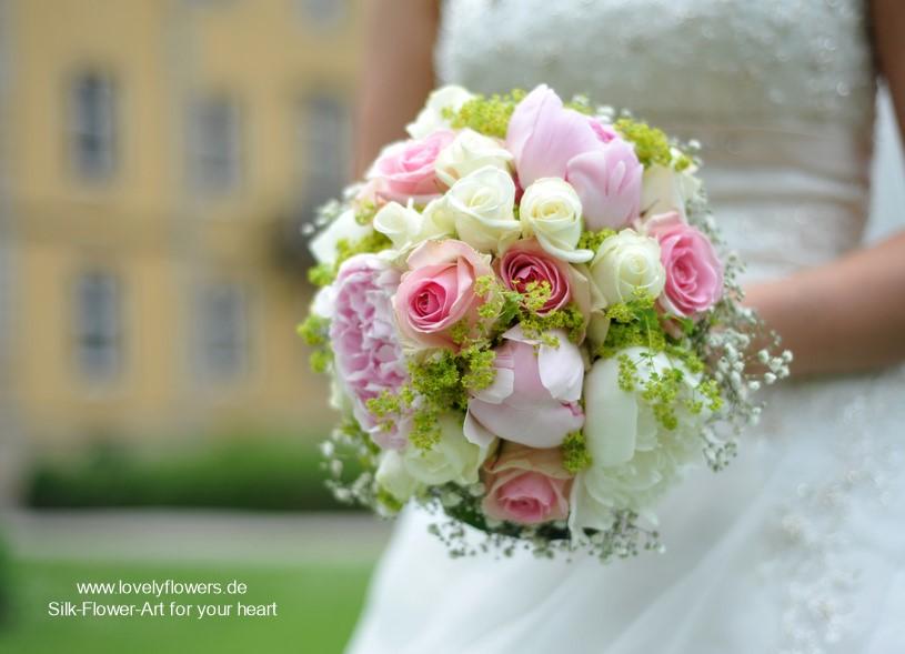 www.lovelyflowers.de - Seidenblumen Brautsträuße in elfengleichem Pastell:-)