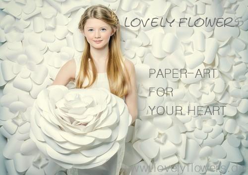 www.lovelyflowers.de - Dein Spezialist für PAPER-ART-Blumenwand-Deko & Blumenhintergrund-Deko!