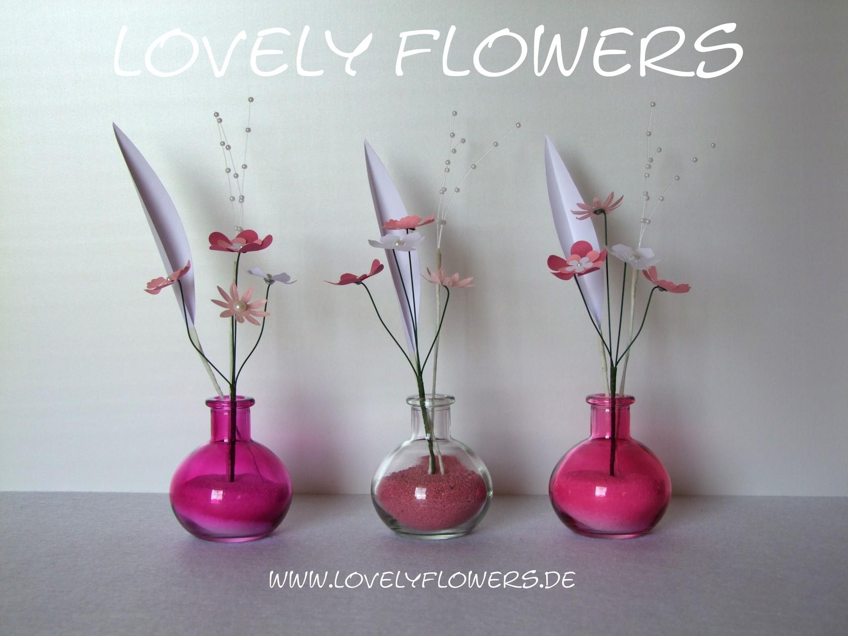 www.lovelyflowers.de - Dein Spezialist für stylische PAPER-ART-Blumendekorationen!