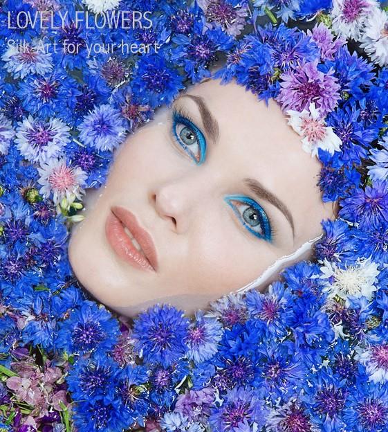 www.lovelyflowers.de setzt Models seidenschön in Szene:-)