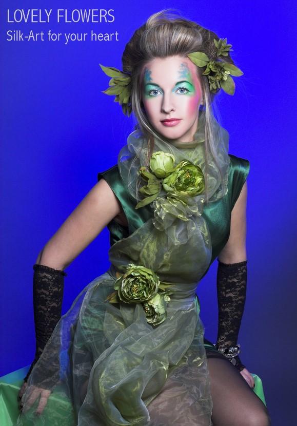 Seidenblumenaccessoires von www.lovelyflowers.de machen Models noch nen Tick schöner:-)