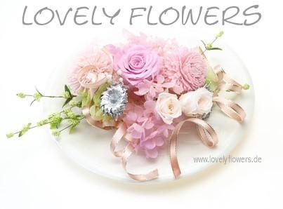 www.lovelyflowers.de - Dein Spezialist für PAPER-ART-Blumen Eyecatcher bei Tisch!