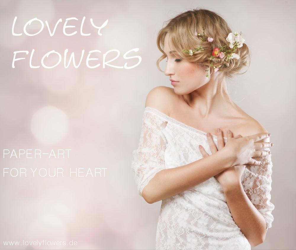 www.lovelyflowers.de - Dein Spezialist für PAPER-ART-Blumenkopfschmuck!