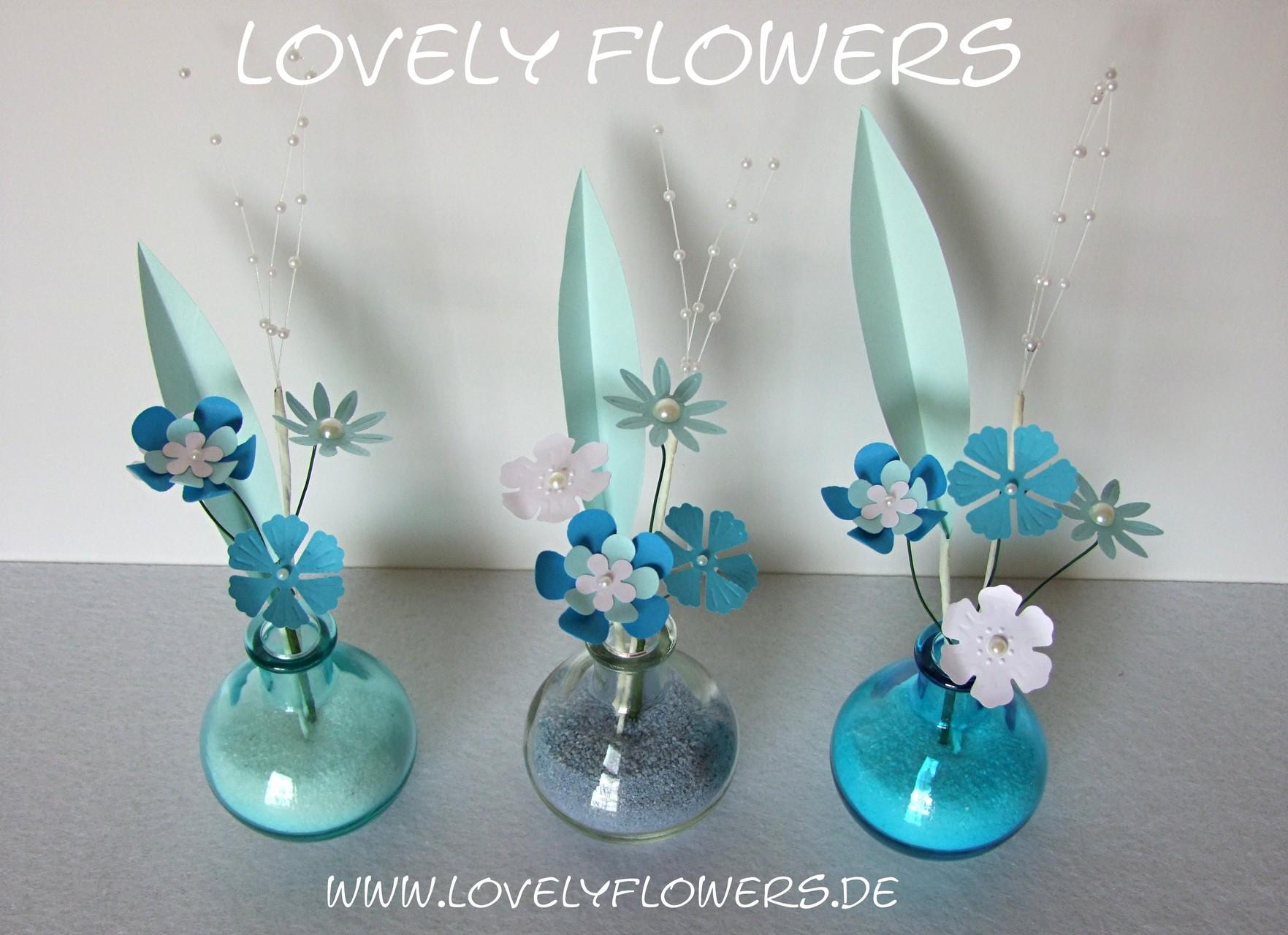 www.lovelyflowers.de - Dein Spezialist für hippe PAPER-ART-Blumenset-Dekorationen!
