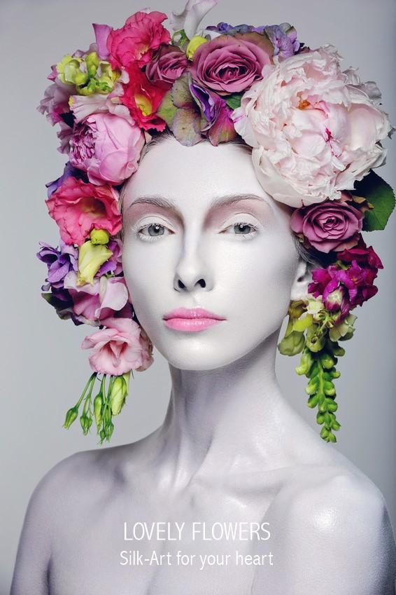 www.lovelyflowers.de macht Models Seidenblumenbesonders:-)
