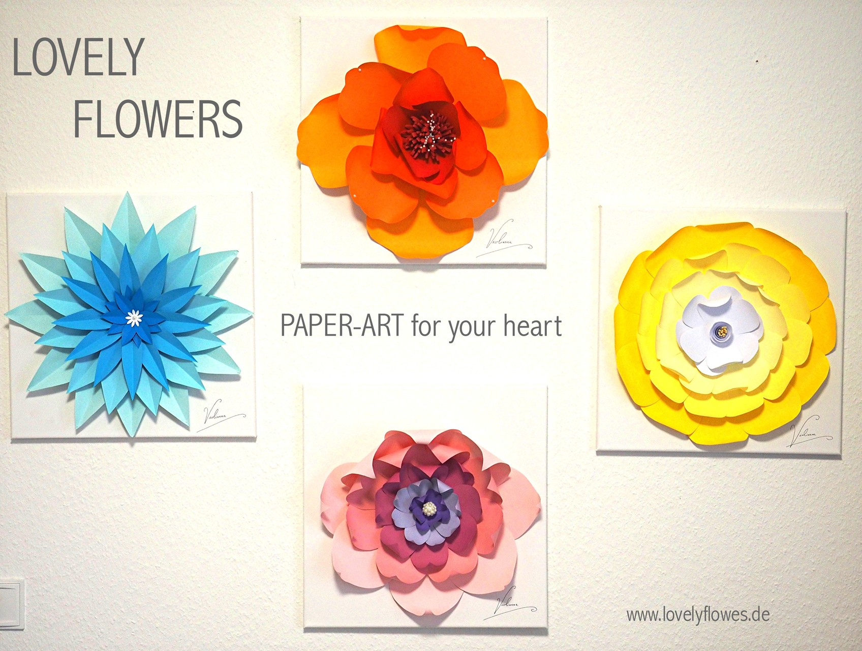 www.lovelyflowers.de - Dein Spezialist für PAPER-ART Wandbilddekorationen!
