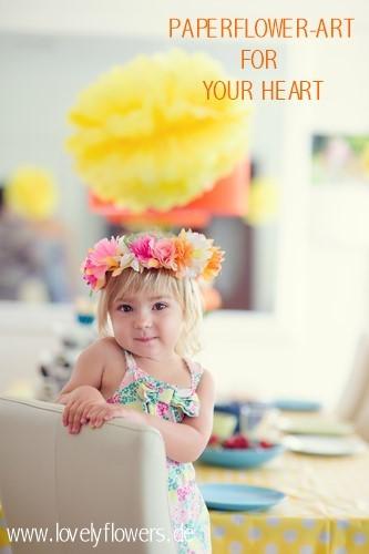 www.lovelyflowers.de - Dein Spezialist für PAPER-ART-Kinderfest-Blumendekorationen!