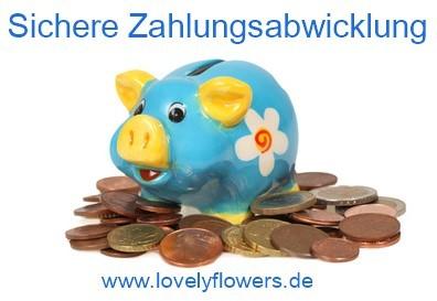 Sichere Zahlungsabwicklung bei www.lovelyflowers.de!