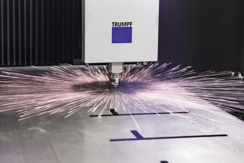 Laserschneidmaschine Detail