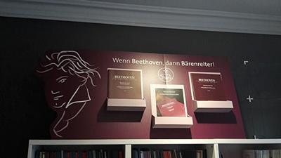 Beethoven-Dekoration bei Lausch & Zweigle