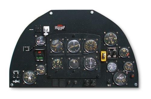 panel de mandos spitfire