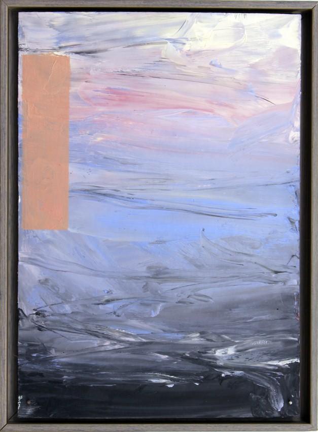 """Martin Schnur  """"o.T.""""   Öl auf Karton 17 x 25 cm Jahr: 2002"""