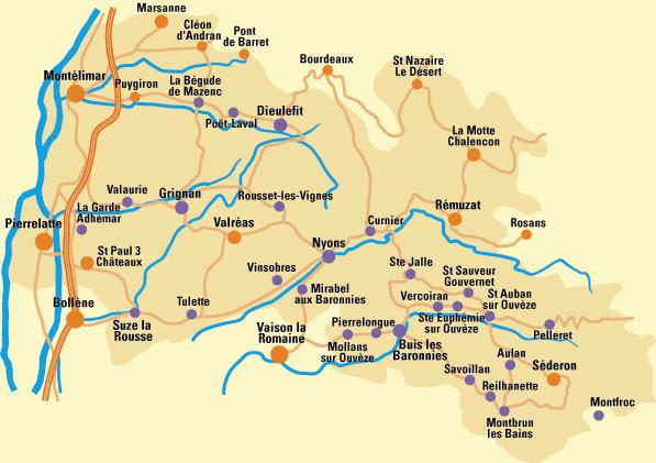 Carte de la drome Provençale