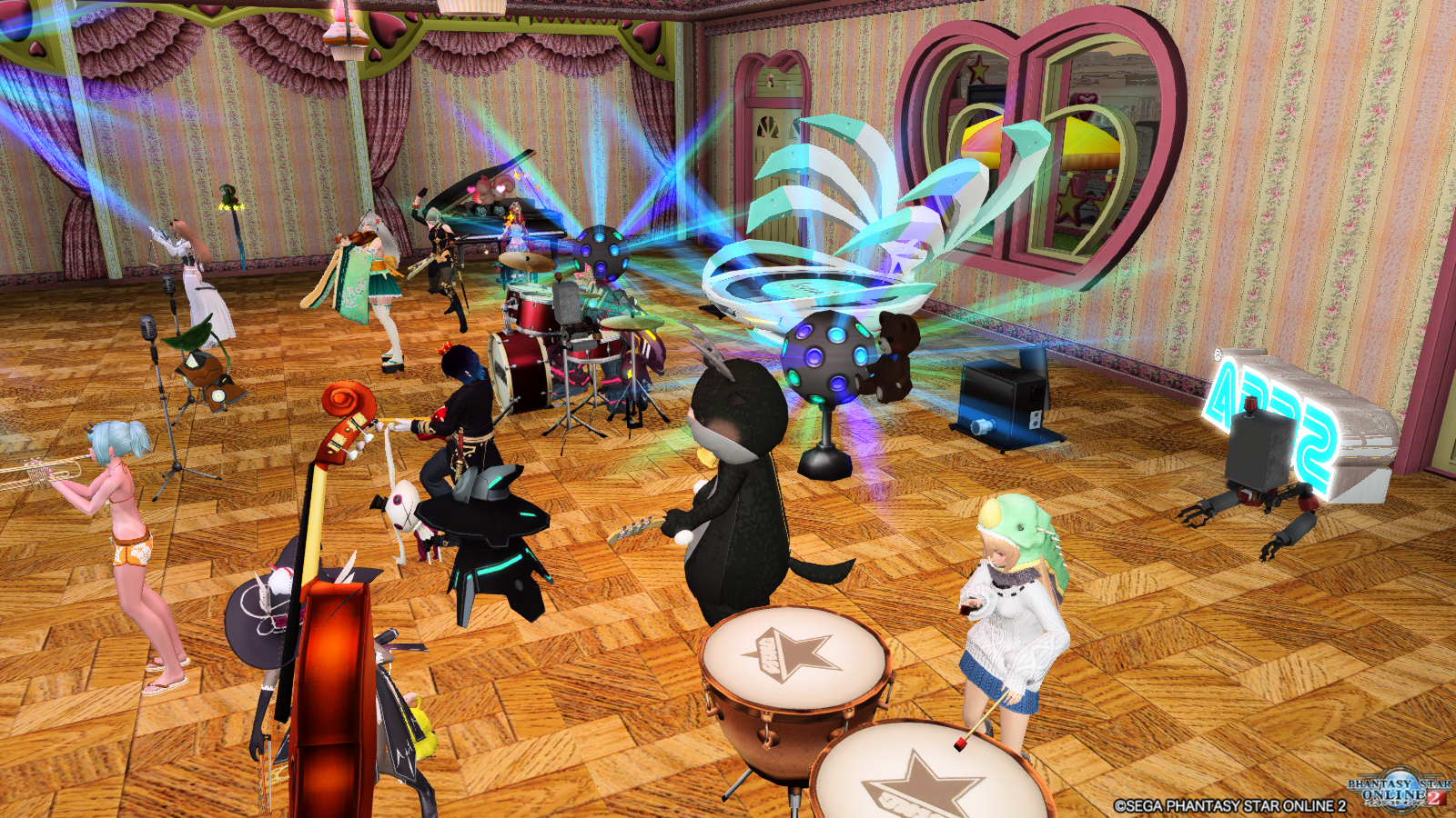 チムメンさんのマイルームで楽器演奏会!