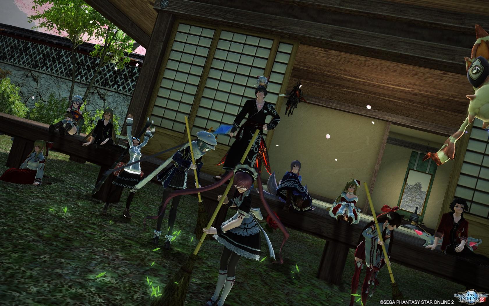 春を先取りし和風拠点にしたのでメンバーで集合!
