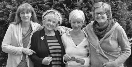 4 unserer Gründerinnen: von links: Conny, Siegrun, Uscha, Liz