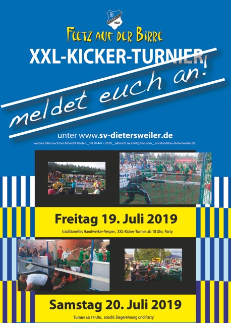 xxl kicker turnier 2019