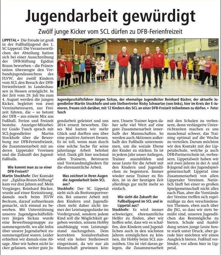 Soester Anzeiger vom 27.02.2015