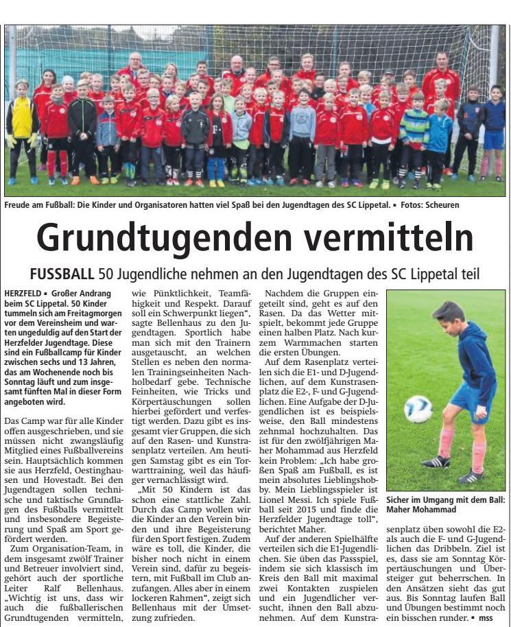 Bericht Soester Anzeiger vom 27.10.2018
