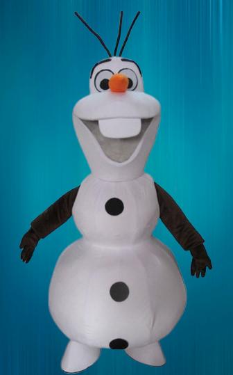 Mascotte Olaf la reine des neiges