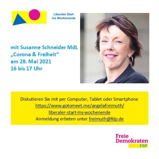 Liberaler Start ins Wochenende mit Susanne Schneider MdL