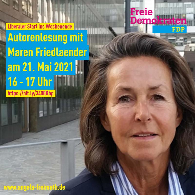 Liberaler Start ins Wochenende: Autorenlesung mit Maren Friedlaender