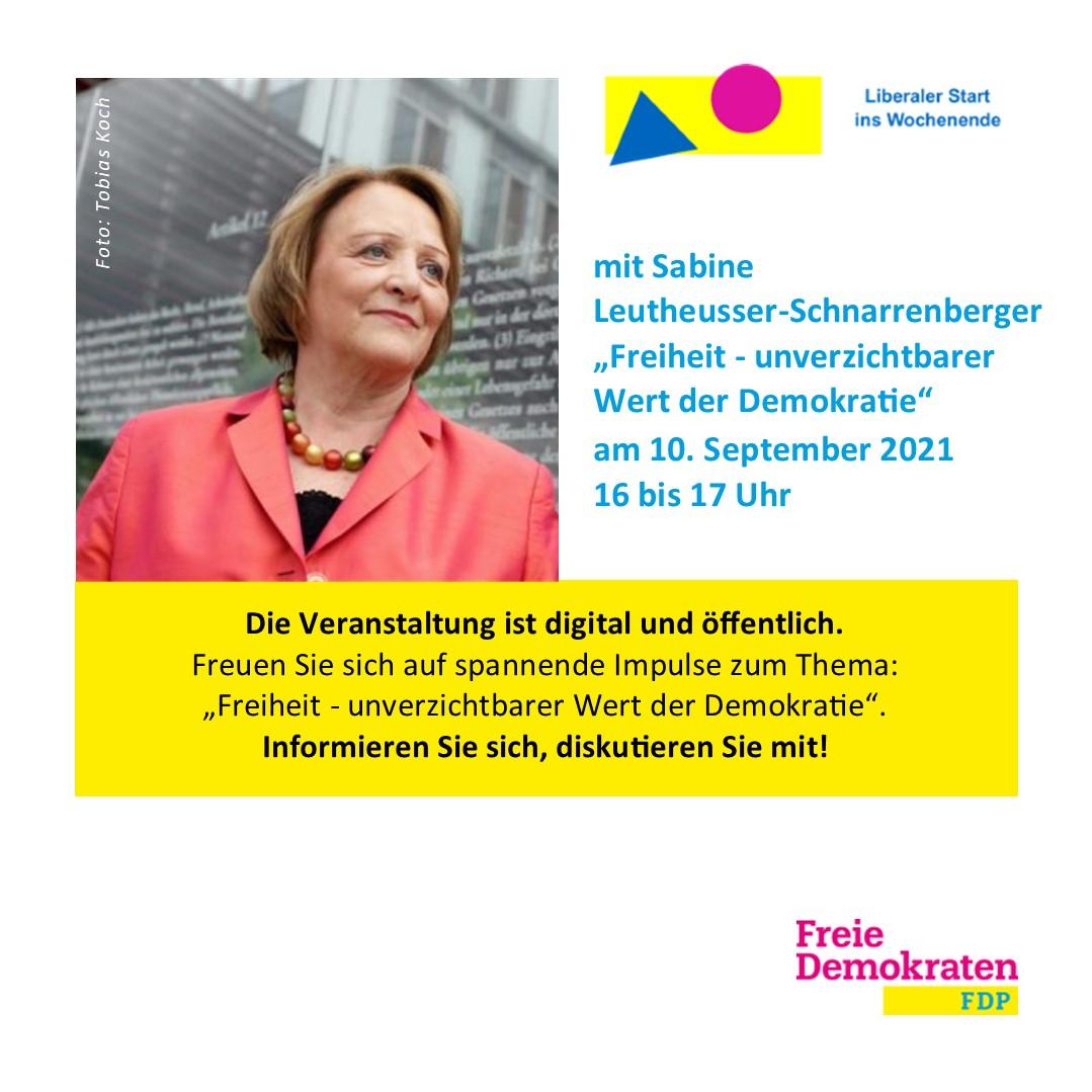 Liberaler Start ins Wochenende mit Sabine Leutheusser-Schnarrenberger