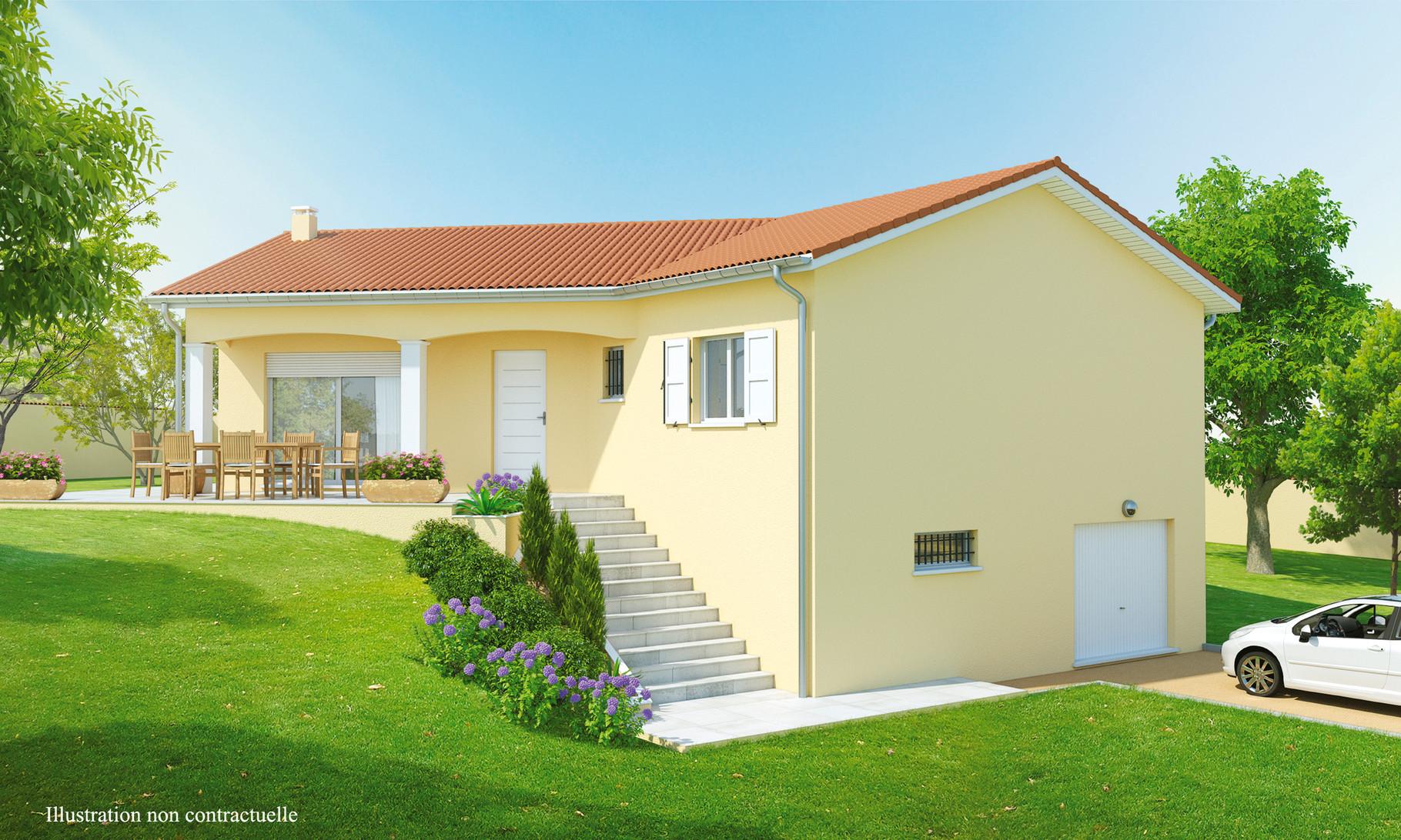 Maisons sur sous sol maisons axial loire 42 for Ajout de garage maison