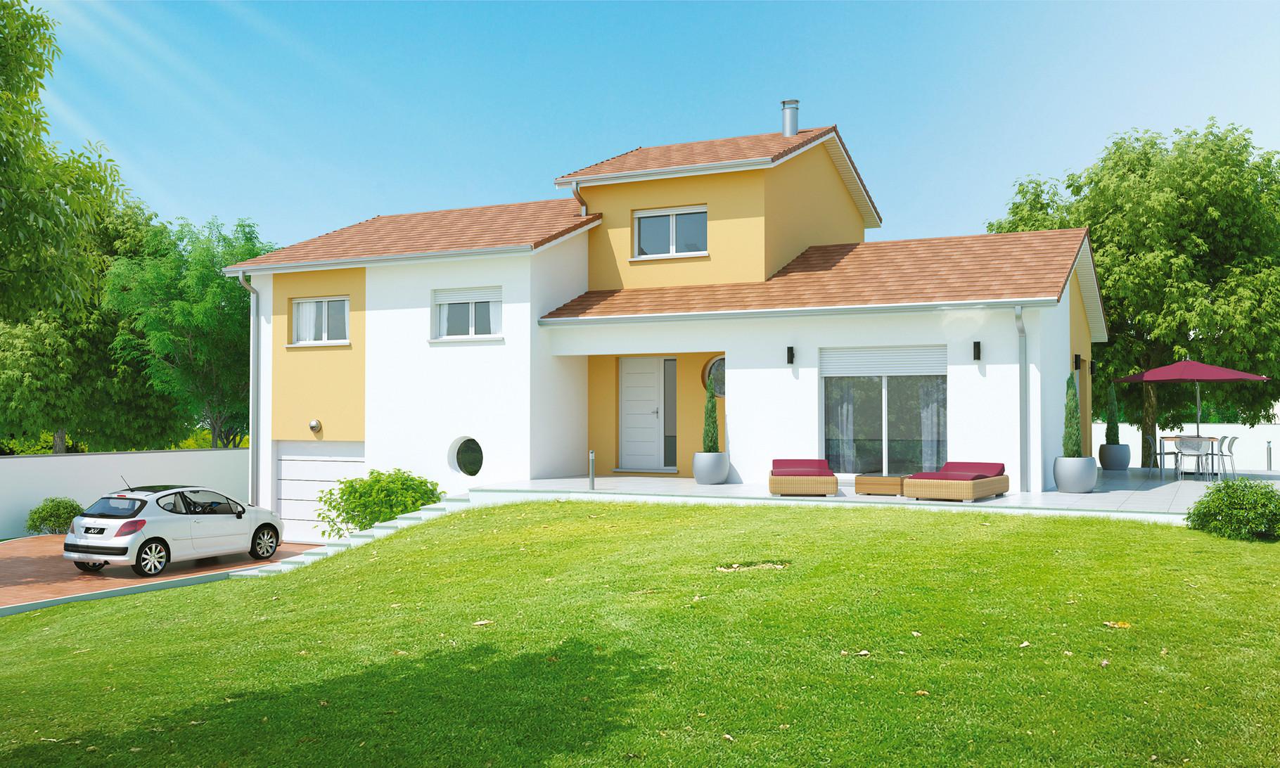 Maisons demi sous sol maisons axial loire 42 for Amenagement sol exterieur maison