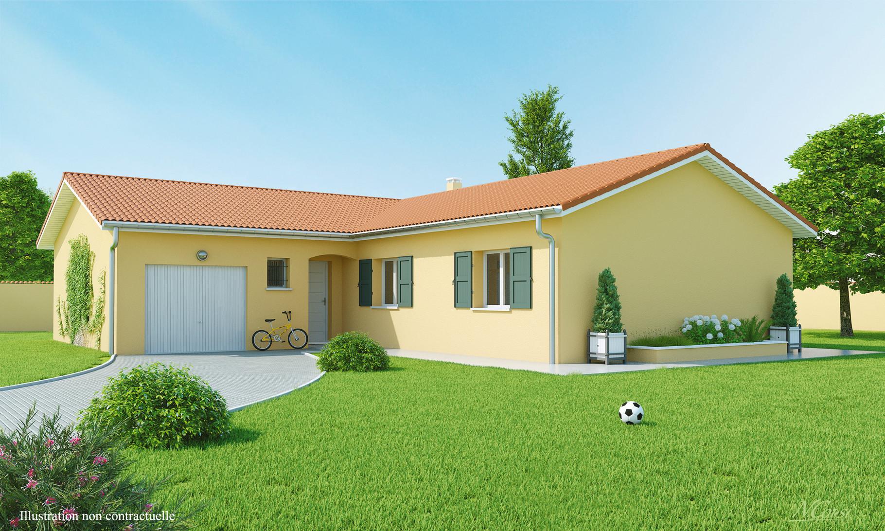 maisons plain pied maisons axial loire 42. Black Bedroom Furniture Sets. Home Design Ideas