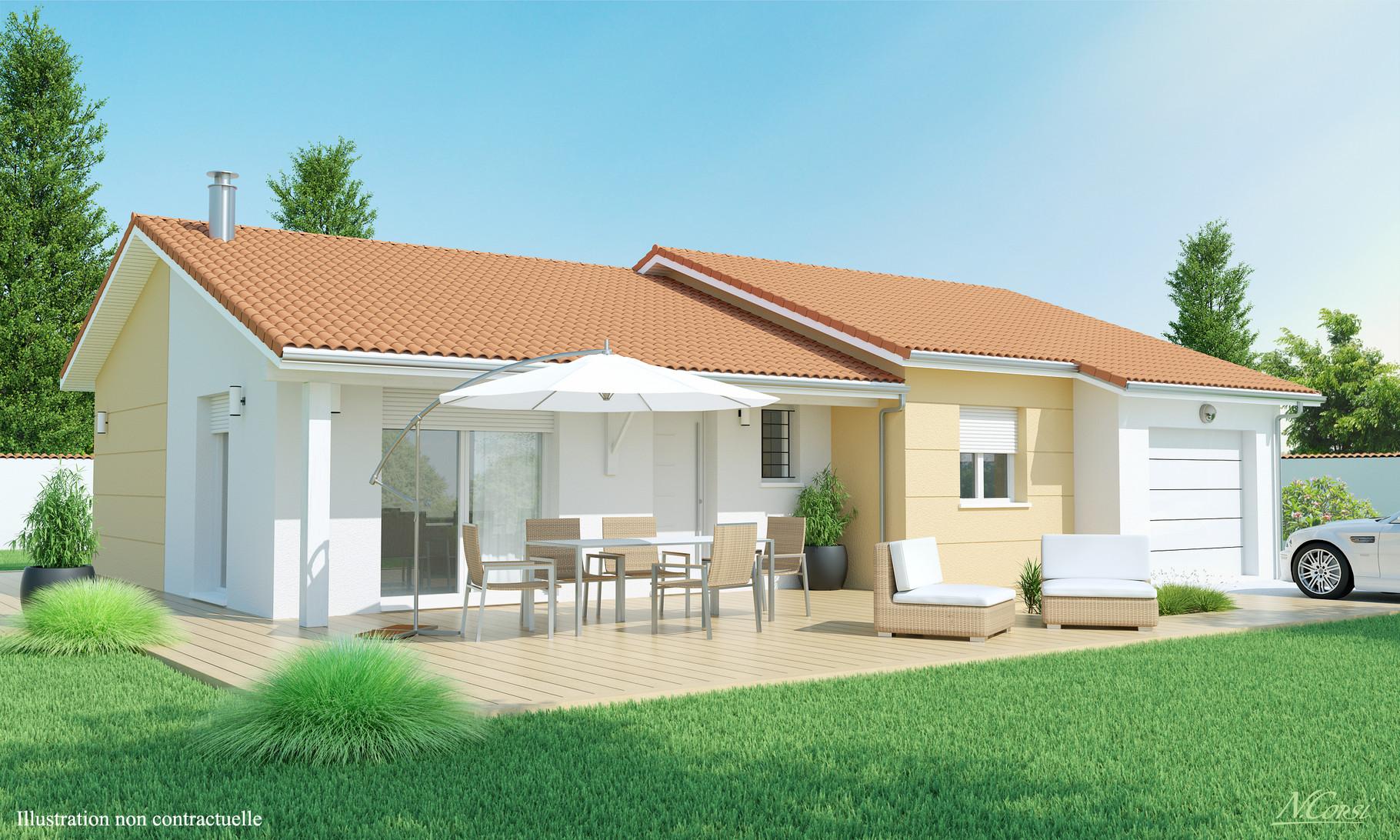Mod le douceur champ tre maisons axial loire 42 for Modele maison champetre