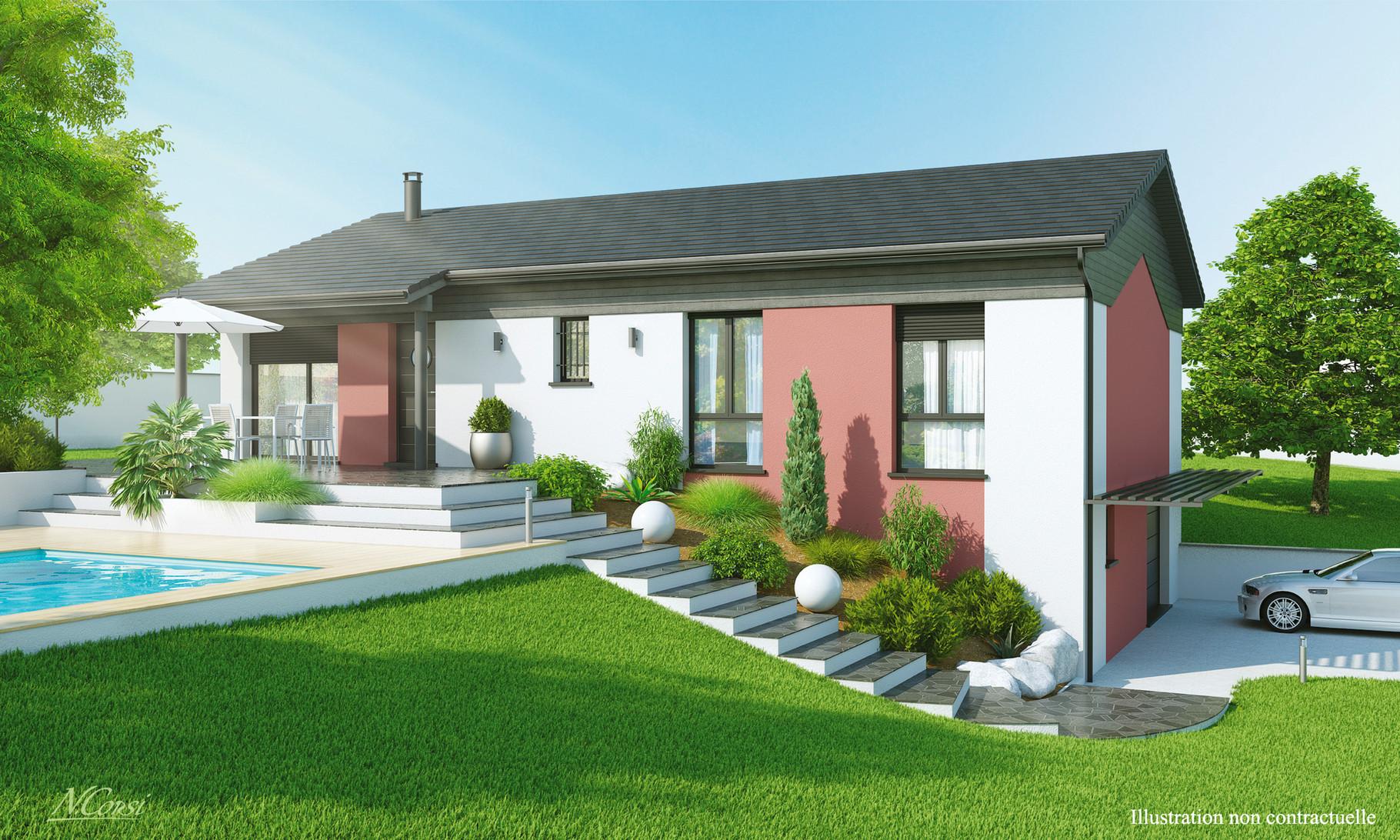 Maisons sur sous sol maisons axial loire 42 for Maison sur terrain pentu