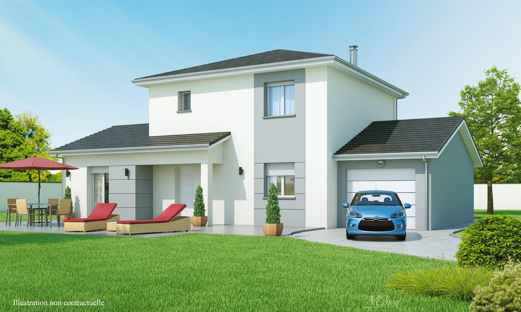 mod le matin clair maisons axial loire 42. Black Bedroom Furniture Sets. Home Design Ideas