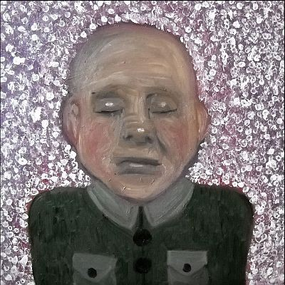 Kleiner Rebell, 2012, 40 x 40 cm, Öl auf Leinwand