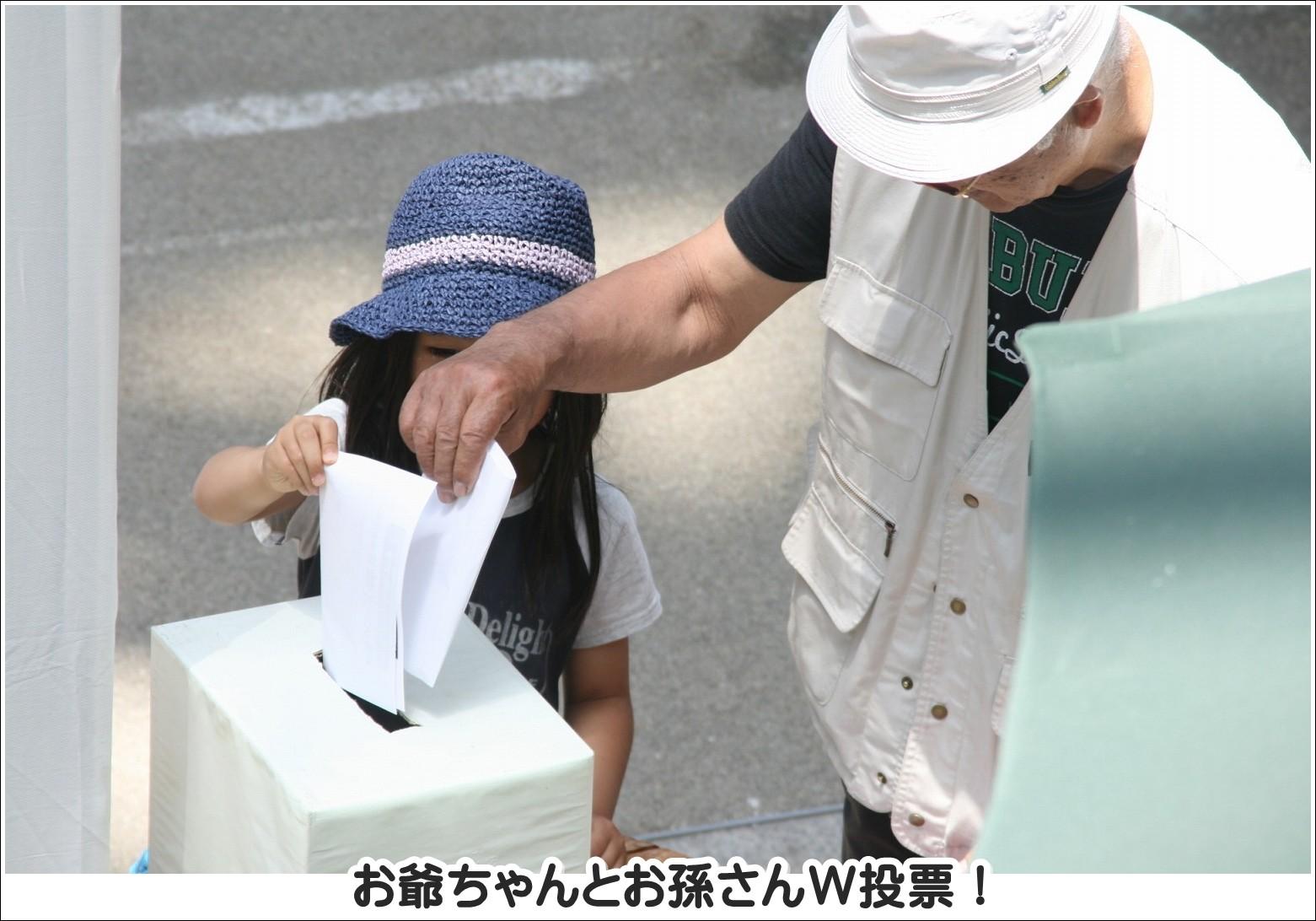 お爺ちゃんとお孫さんW投票!